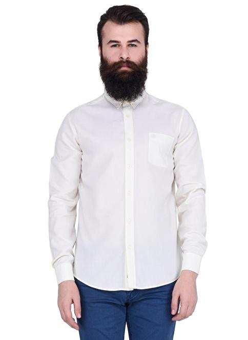 Lufian Uzun Kollu Gömlek Beyaz